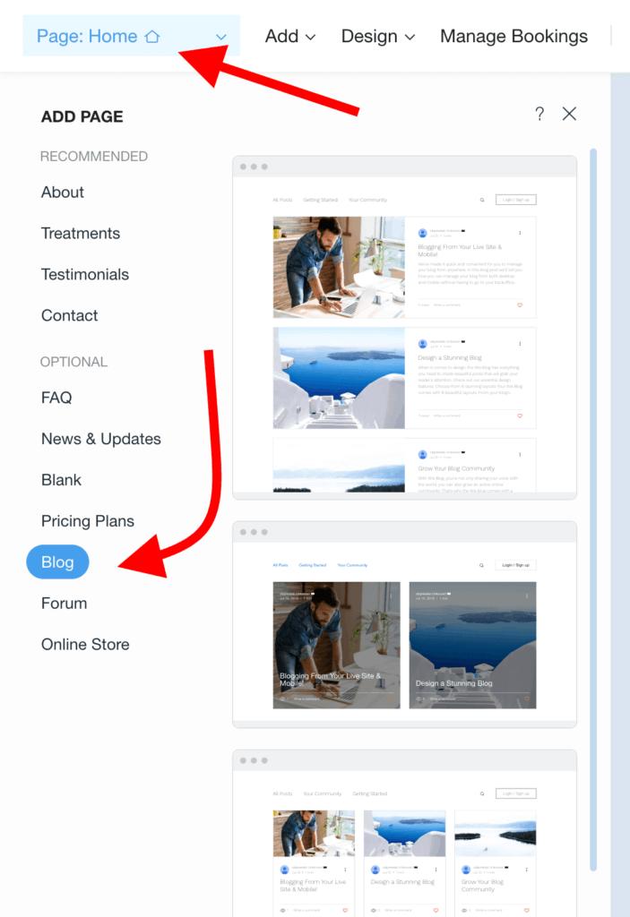 pick blog layout