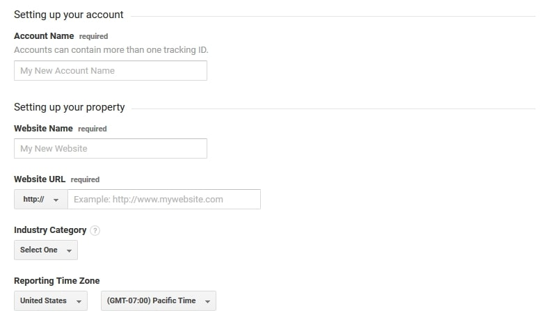 Specify account details