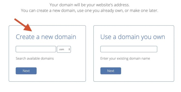 register a domain name, how to make a website