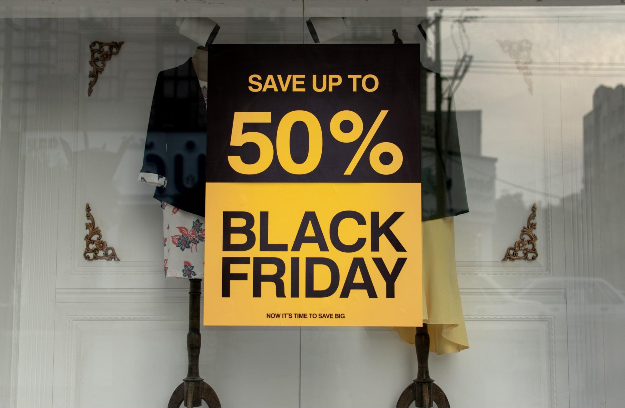 Picture of a black Friday sale sign to illustrate the need for a USP in your business