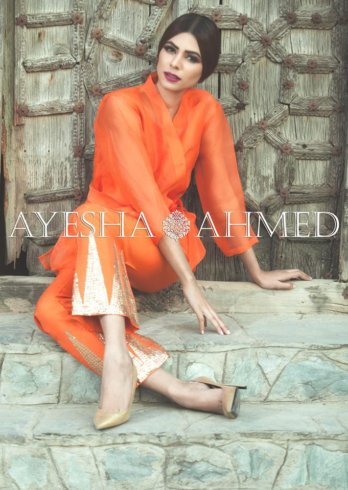 Ayesha Ahmed Formal Silk Dresses 2016 For Women (1)