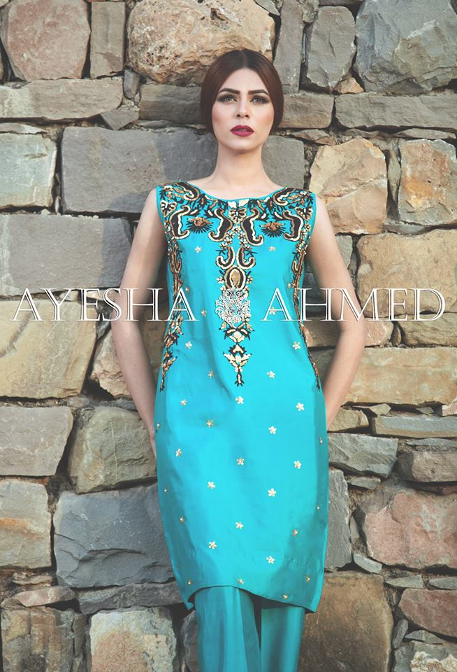 Ayesha Ahmed Vanity Fair Embroidery Gree Lawn
