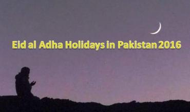 Eid ul Adha 2016 Date In Pakistan