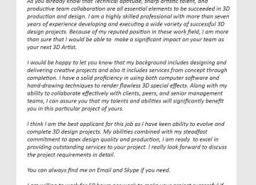 Artist Cover Letters