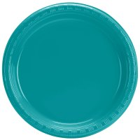 "Creative Converting 28111011 7"" Tropical Teal Plastic ..."