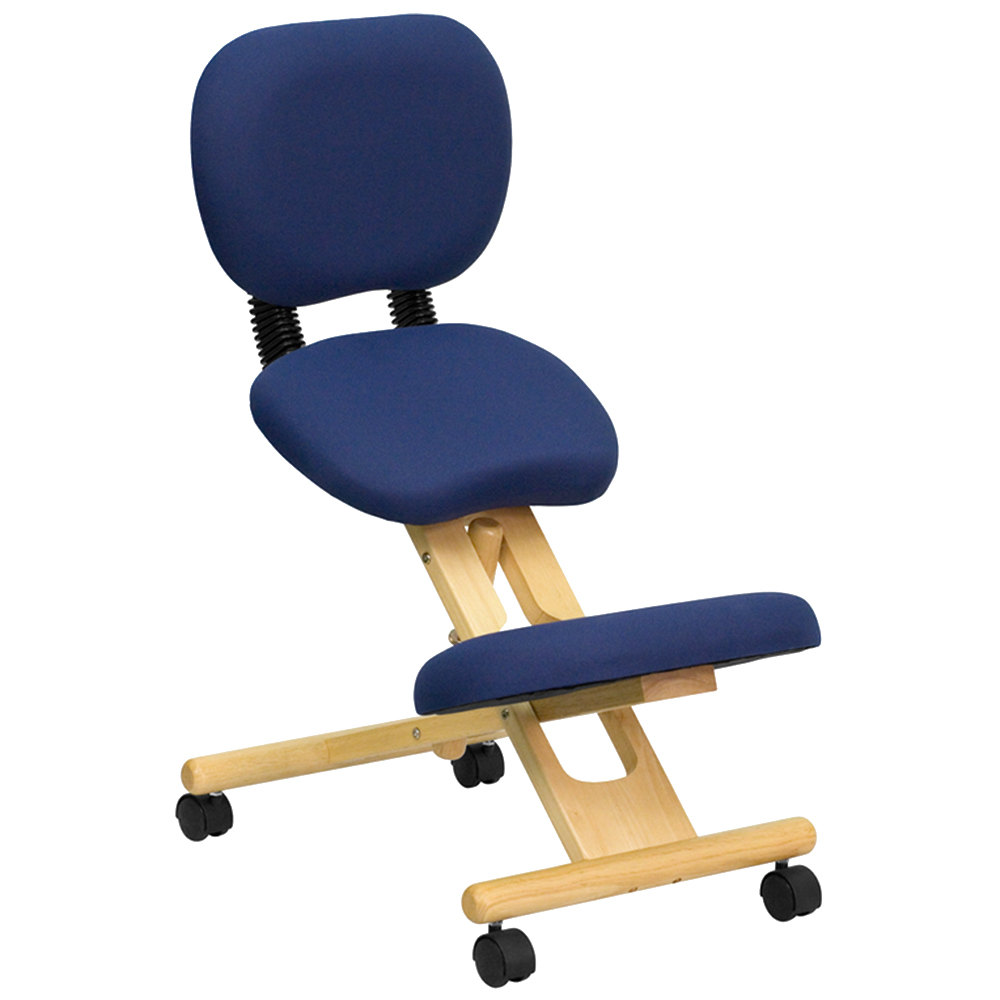 Mobile Chair Flash Furniture Wl Sb 310 Gg Blue Ergonomic Mobile Kneeling Office Chair With Wooden Frame And Reclining Back Rest