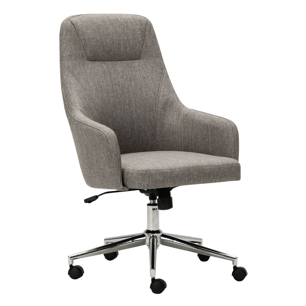 Alera Office Chairs Alera Alecs4151 Captain Series High Back Gray Tweed Office Chair