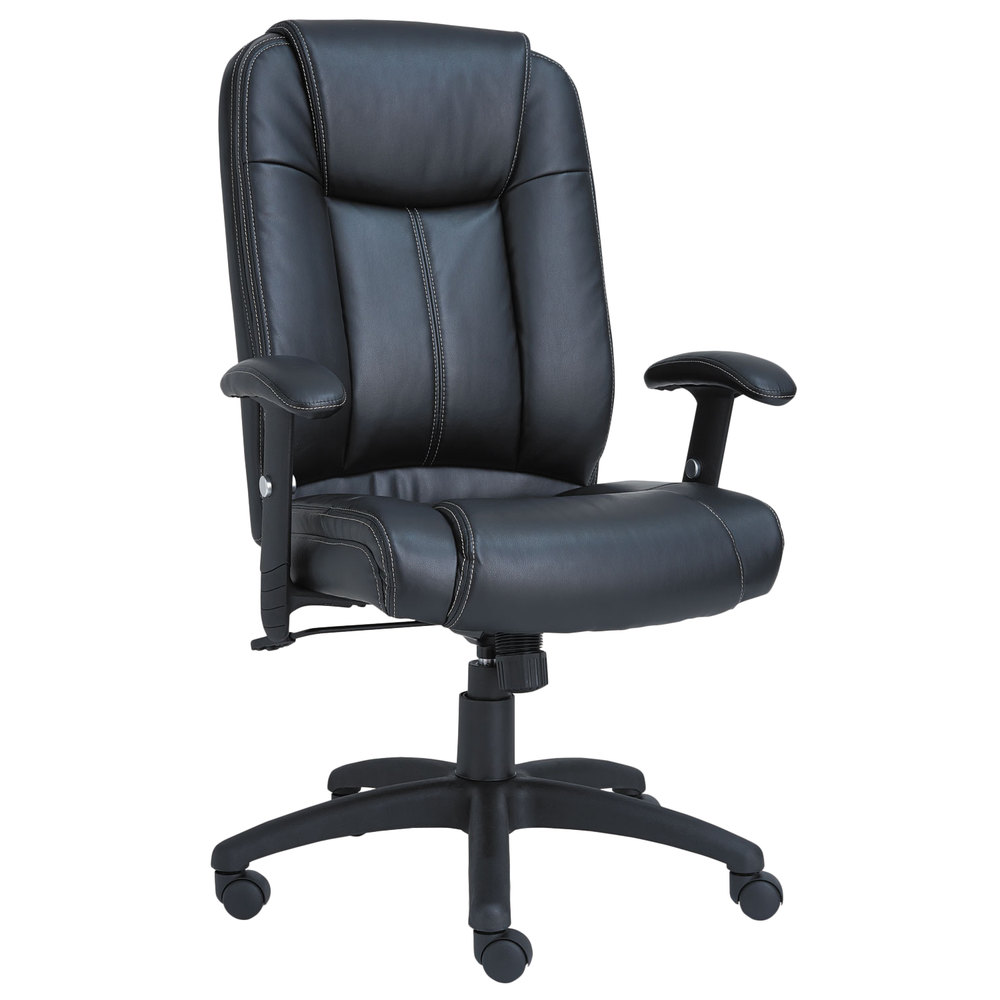Alera Office Chairs Alera Alecc4119 Cc Series High Back Black Leather Executive Swivel Tilt Office Chair