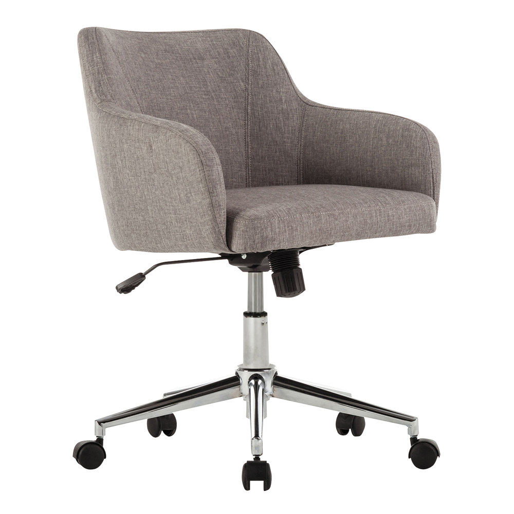 Alera Office Chairs Alera Alecs4251 Captain Series Mid Back Gray Tweed Office Chair
