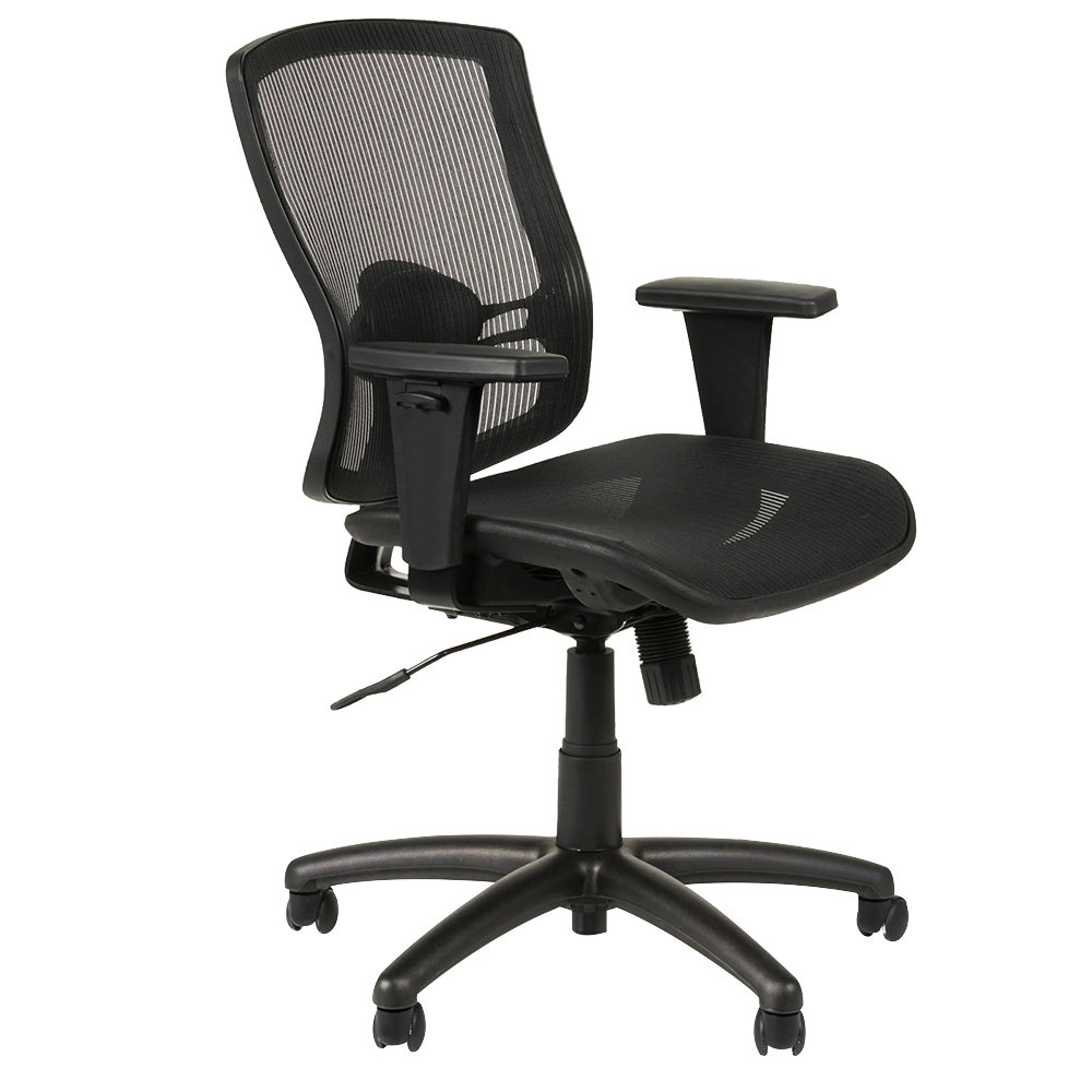 Alera Office Chairs Alera Aleet4218 Etros Series Mid Back Black Mesh Synchro Tilt Office Chair