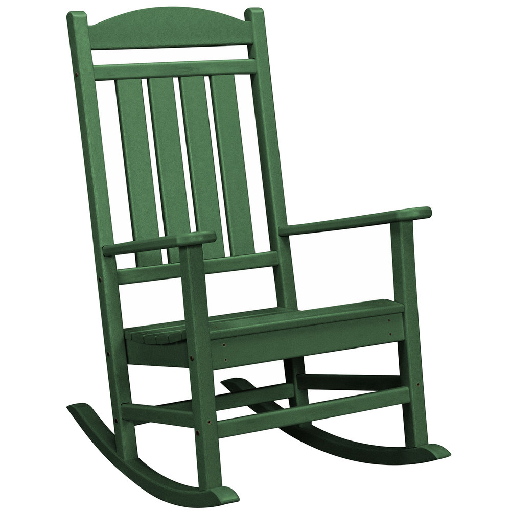 Cheap Rocking Chairs Polywood R100gr Green Presidential Rocking Chair