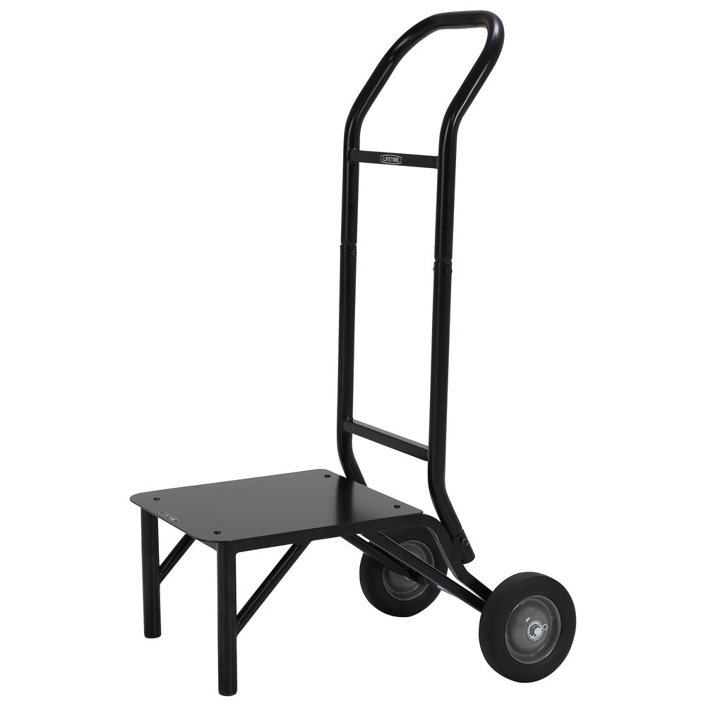 Lifetime Chair Lifetime 80527 Black Stacking Chair Dolly