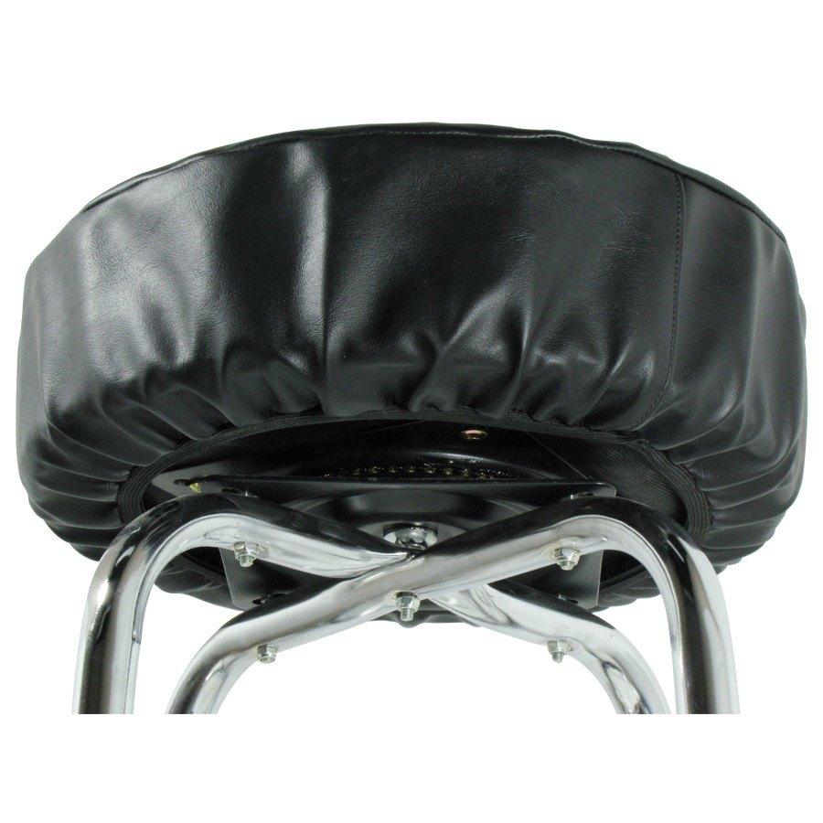 "14"" Black Vinyl Bar Stool Seat Cover"
