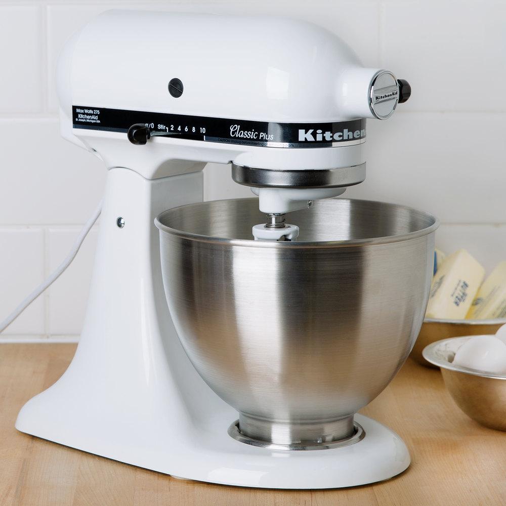 Kitchenaid Ksm75wh White 45 Qt Countertop Mixer