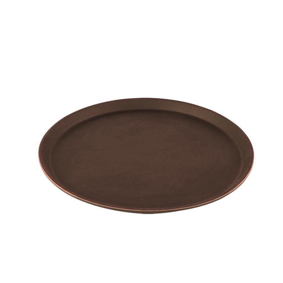 """Cambro 1400tl138 Treadlite 14"""" Round Brown Nonskid"""