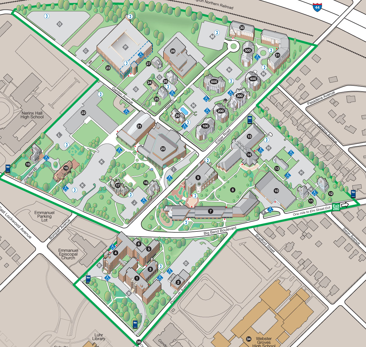 Webster University Interactive Campus Map   Webster JournalWebster
