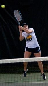 Webster University women's tennis player Marissa Lewis