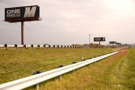 Two of the University of Missouri-Columbia billboards on Interstate 70. They sit less than 10 miles before Webster University's billboard eastbound on I-70.