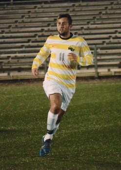 PHOTO BY JORDAN PALMER/ The Journal Nermin Hajrizi plays against Wartburg College on Sept. 6. Hajrizi scored two goals in Webster's win over Iowa Wesleyan on Sept. 27
