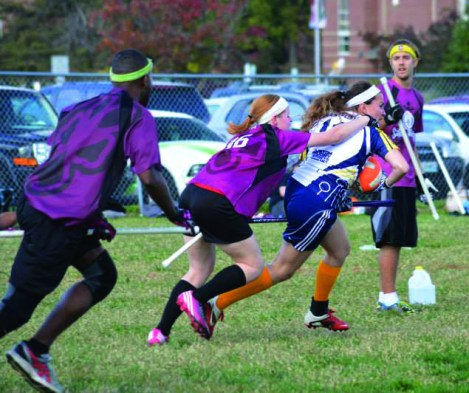 Photo Contributed by Nick Apple Natalie Gawedzinski evades a tackle in Webster's last tournament at Illinois College in Jacksonville Illinois