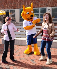 Students participate in the Gorlok Dollar Dance on the Marletto's Patio. / photo by Jordan Palmer