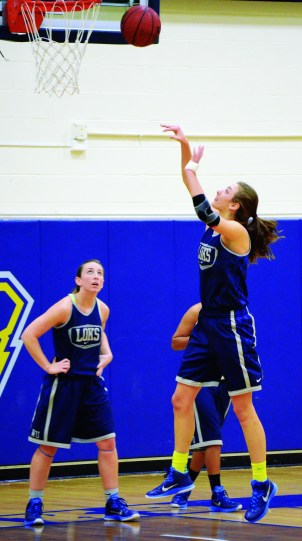 JORDAN PALMER / The Journal Cassie Endicott shoots a layup during practice. Endicott scored 22 points against Westminster College on Dec. 3.