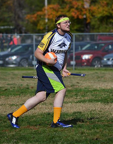 Joey Dennis in action for the Webster Quidditch team. Photo contributed by Nick Apple