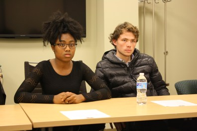 Members of the Association of African American Collegians presented a list of demands to President Elizabeth Stroble and Provost Julian Schuster to combat what they called systematic racism at Webster University.