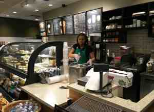 Alyssa Potter, a public relations major at Webster University, prepares pastries for a display at Starbucks in Rock Hill. Nikki Waller   The Journal