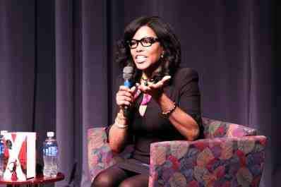 Ilyasah Shabazz, third daughter of Malcolm X, speaks to student and faculty at Nerinx Hall about her father's legacy. SARA BANNOURA / The Journal