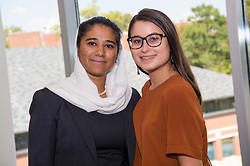 Shabnam Granzooy (left) next to her friend Katie Fields.