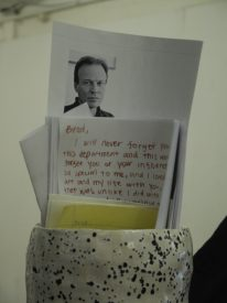 Art students built a shrine in Loudenback's memory.