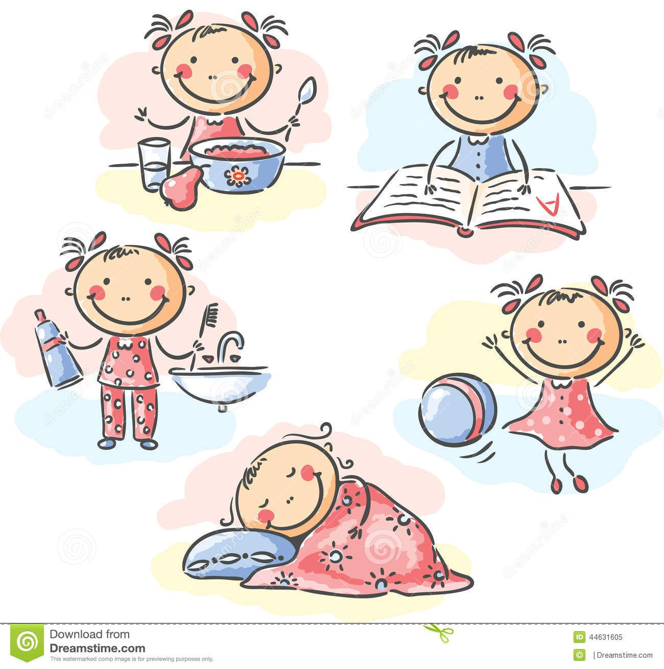 Activities Clipart Daily Routine Activities Daily Routine