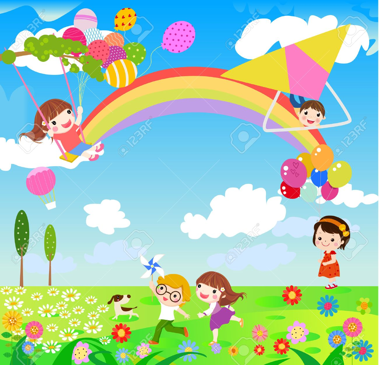 Activities Clipart Spring Season Activities Spring Season