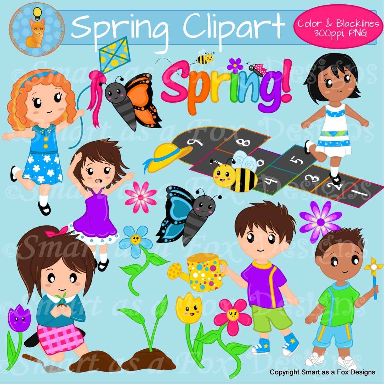 Activities Clipart Spring Season Activities Spring Season