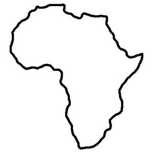 Africa clipart outline, Africa outline Transparent FREE