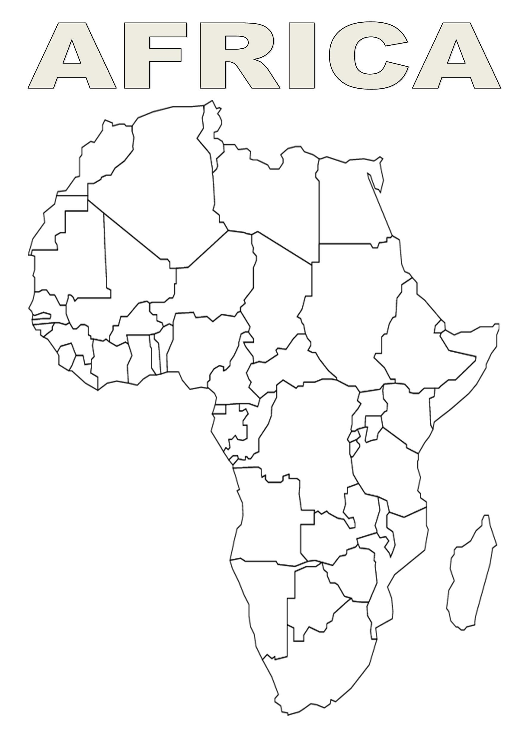 Africa Clipart Template Africa Template Transparent Free