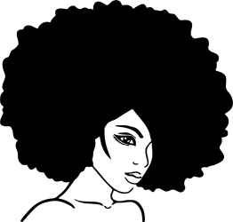 afro clipart cartoon hair svg beauty transparent woman silhouette decal sticker wall parlour painting webstockreview magic