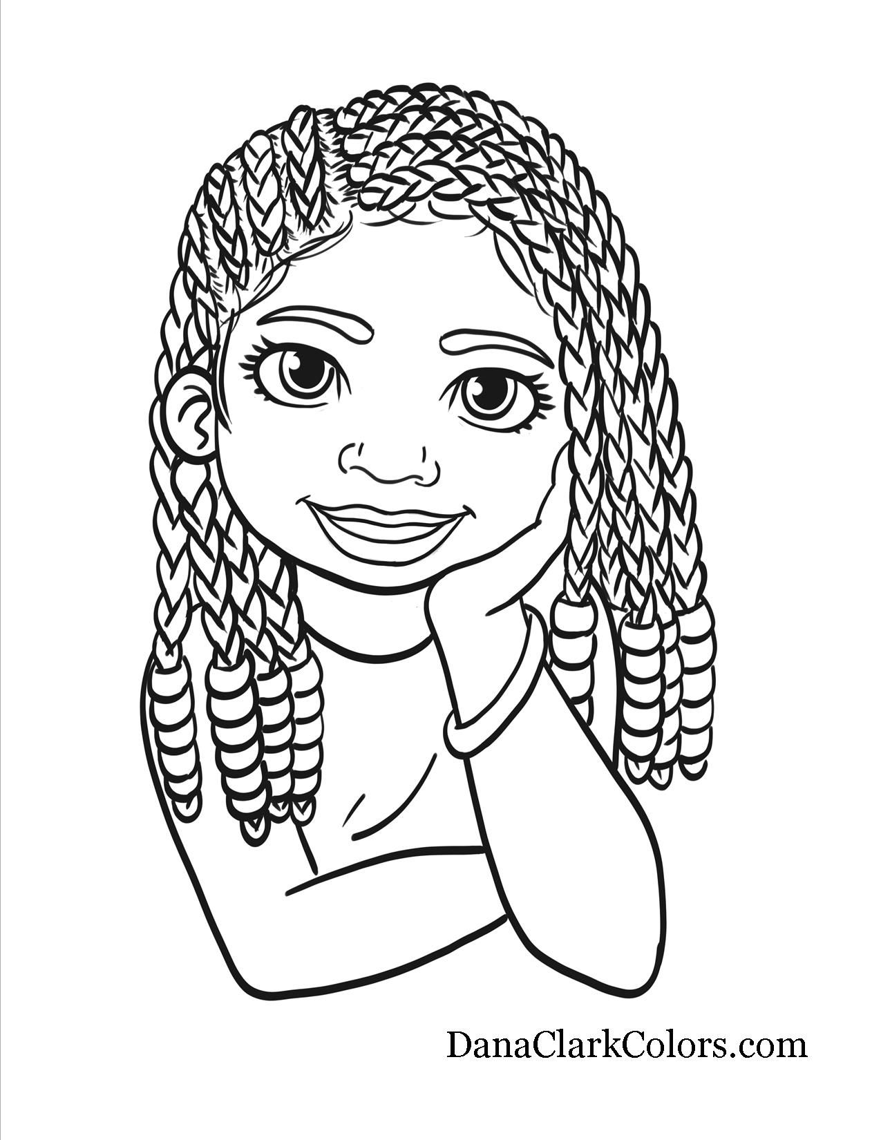 Afro Clipart Coloring Page Afro Coloring Page Transparent Free