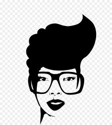 afro african american clipart svg silhouette woman glasses lady face hair transparent clip glass puffs library short natural vector cliparts