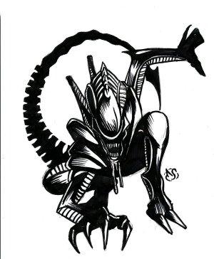 xenomorph alien clipart sketch deviantart webstockreview