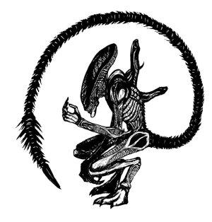 xenomorph alien deviantart clipart giger drawings webstockreview