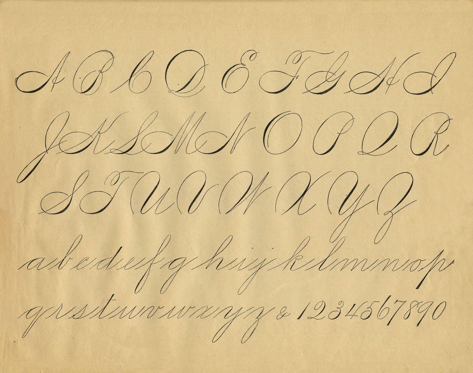 Alphabet Clipart Calligraphy Alphabet Calligraphy
