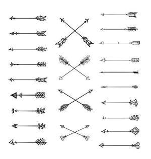 simple arrows clipart tribal webstockreview doodle