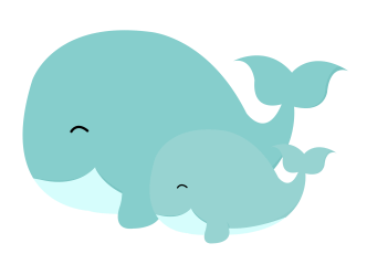 clipart whale transparent baby background animals mom cat webstockreview