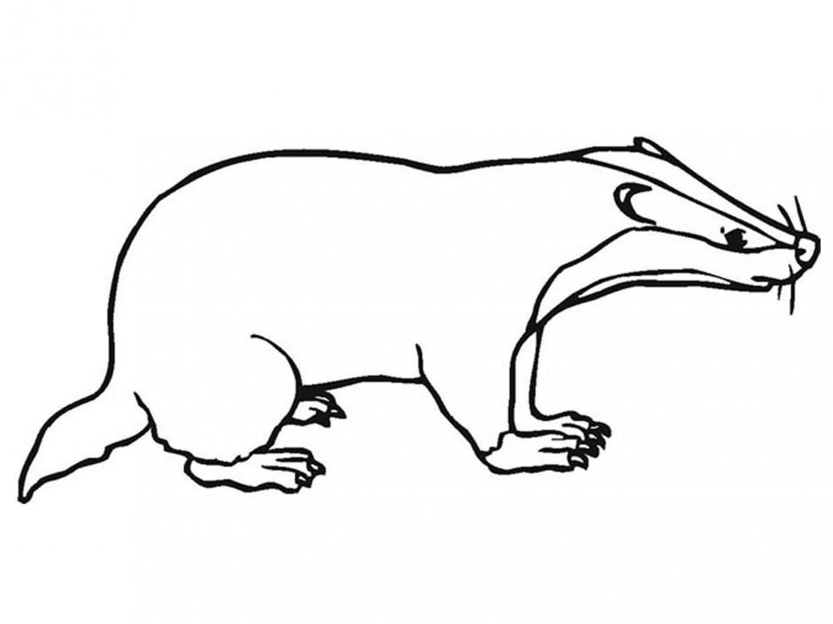 Badger clipart simple cartoon, Badger simple cartoon