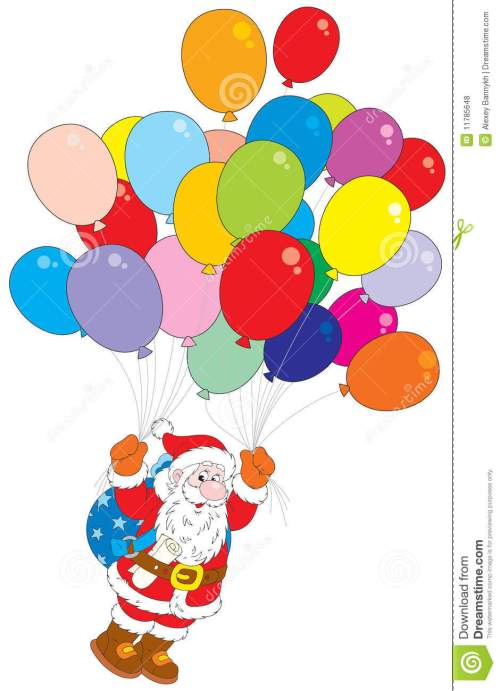 small resolution of balloons clipart christmas