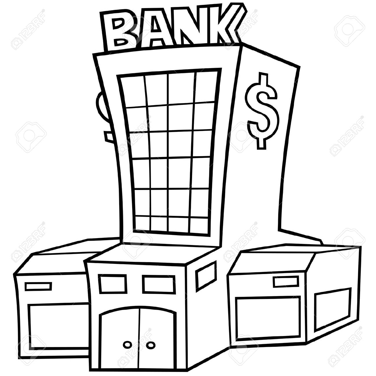 Bank Clipart Black And White Bank Black And White Transparent Free For Download On Webstockreview 2020