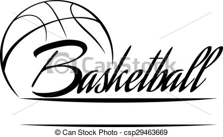 Basketball clipart word, Basketball word Transparent FREE