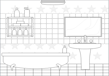 Bathroom clipart black and white Bathroom black and white Transparent FREE for download on WebStockReview 2020